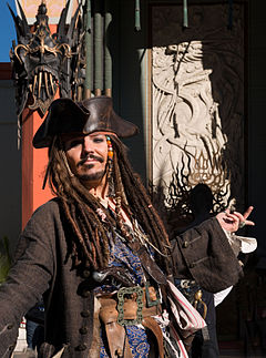 Dale Clark poses as Johnny Depp, in Pirates of the Caribbean, 24391.jpg