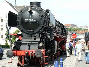 DRB Class 01.10 - 012 100-4 on the Flensburg Steam Runabout (Dampfrundum) 2007