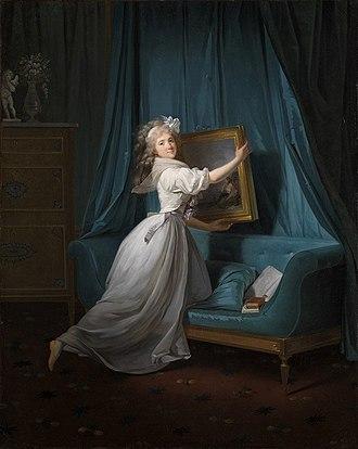 Rosalie Duthé - Danloux's Mademoiselle Rosalie Duthé (1792)