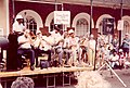 Danny Barker and His Jazz Hounds - vocal duet with Kermit Ruffins - French Quarter Festival.jpg