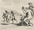 Dansende kinderen voor sater en maenade Dansende kinderen bij de muziek van saters en maenaden (serietitel), RP-P-OB-23.692.jpg