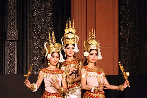 Robam Tep Apsara - Khmer Apsara dancers.