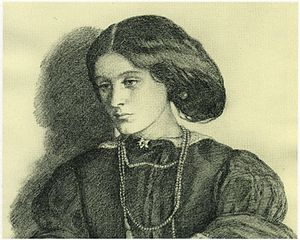Georgiana Burne-Jones - Georgiana Burne-Jones by Dante Gabriel Rossetti, about the time of her marriage in 1860