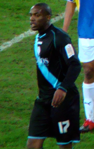 Dany N'Guessan - N'Guessan in Leicester City colours in March 2010.
