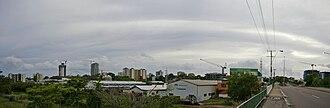 Darwin City, Northern Territory - View of Darwin CBD from the Stuart Highway