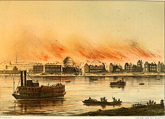 History of St. Louis - St. Louis Fire (1849)