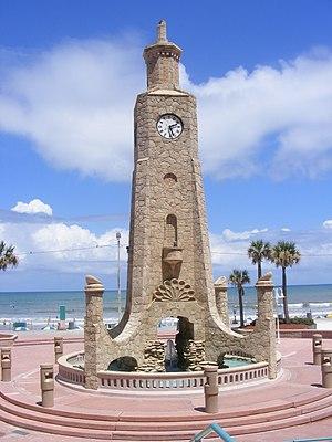 Daytona Beach Bandshell - Image: Daytona Beach Clocktower