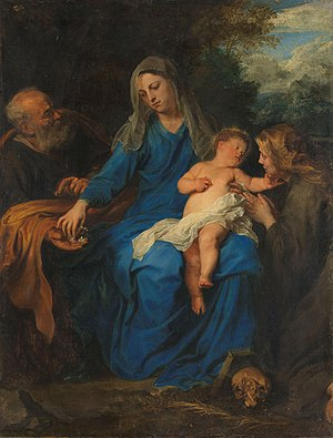 The holy family with Mary Magdalene