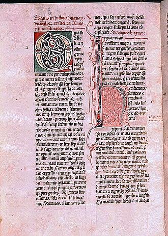 De rebus Hispaniae - Manuscript of De rebus