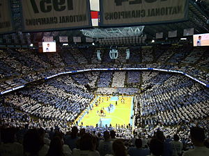 College GameDay (basketball) - The North Carolina Tar Heels have been featured on GameDay 16 times, more than any other team.