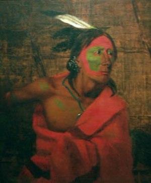Charles Deas - Wa-kon-cha-hi-re-ga (1840) by Charles Deas