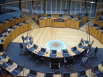 CF99 - The main debating chamber of the Senedd