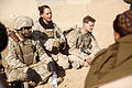 Defense.gov News Photo 110121-M-3952S-020 - U.S. Marine Corps Sgt. Miranda Mcclain 2nd from left with a female engagement team attached to Lima Company 3rd Battalion 5th Marine Regiment.jpg