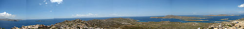 Panorama from Delos Mountain.