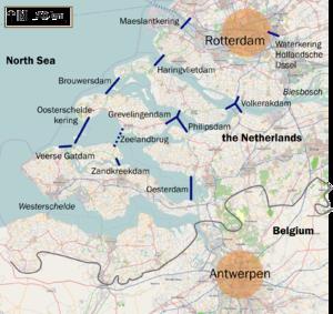Мапа гідротехнічних споруд в рамках