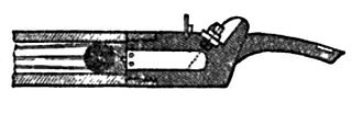 Sabot - Lead bullet being supported by a wooden sabot in a Delvigne gun