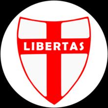 Il logo della Democrazia Cristiana, un ex-partito di centro che attirò per lungo tempo sia voti dai progressisti non marxisti che dai liberali e conservatori anti-fascisti
