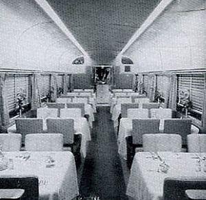 Denver Zephyr - Image: Denver Zephyr dining car 1940