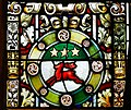 Derry Guildhall Tercentenary Window of The Honourable The Irish Society Left Side Window Detail Arms of O'Doherty 2019 08 29.jpg