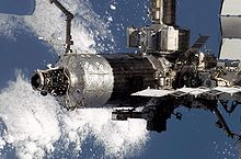 alt=Description de l'image Destiny ISS module taken by STS-108.jpg.