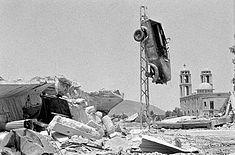 Il villaggio di Quneitra, rimasto in gran parte distrutto dopo il ritiro israeliano nel 1974