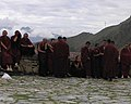 "Detail, from- ""Monks at Drepung Monastery, Lhasa, Tibet"" 2008 photo, from- Annual Report of the U.S. Commission on International Religious Freedom (2008) (page 121 crop) (cropped).jpg"