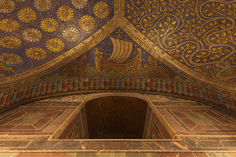 File detail ceiling cathedral aachen - Plafond de la chapelle sixtine description ...