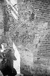 detail van de scheidingsmuur met papenstraat 13, begane grond - zwolle - 20230203 - rce