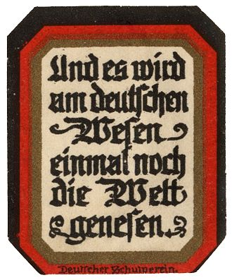 "German nationalism in Austria - ""And the German spirit will once heal the world"" – A pan-Germanist stamp of the German School League"