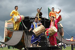 Punjabi culture - Bhangra tournament concert