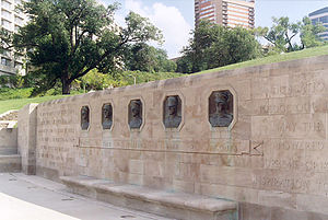 National World War I Museum and Memorial - Left to right: The Beatty, Foch, Pershing, Diaz and Jacques reliefs.