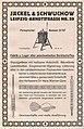 Die Kürschnerkunst, Hans Werner, 1914 (S. Anhang) Anzeige Jäckel und Schwuchow, Leipzig, Fabrik u. Lager aller pelzchemischen Gerätschaften.jpg