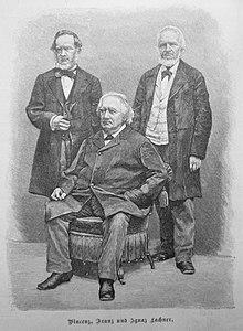 Die Musiker Vinzenz, Franz und Ignaz Lachner, Holzstich nach Fotografie, aus: Gartenlaube 1891 (Quelle: Wikimedia)