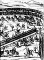 Diederich Graminaeus (1550-1610). Beschreibung derer Fürstlicher Güligscher ec. Hochzeit (Johann Wilhelm von Jülich-Kleve-Berg ∞ Jakobe von Baden-Baden, Hochzeit in Düsseldorf im Jahre 1585), Köln 1587 Nr. 90, Ausschnitt (Hälfte, rechts).JPG