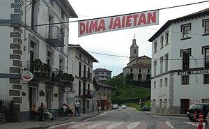 Dima, Spain - A street in Dima
