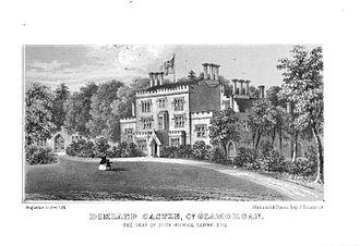 Robert Nicholl Carne - Dimlands Castle, pictured c. 1850, was built by Nicholl Carne.