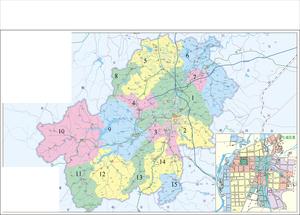 Anji County - Image: Division of Anji County