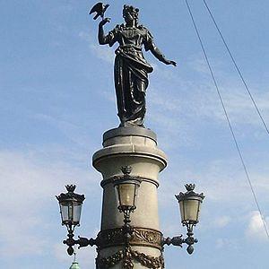 Djurgårdsbron - Statue of Freyja.