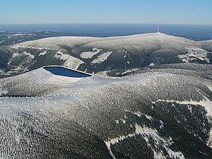 Hrubý Jeseník - Image: Dlouhe strane horni nadrz