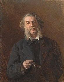 Porträt grigorowitschs 1876 von iwan kramskoi