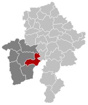 Doische - Image: Doische Namur Belgium Map