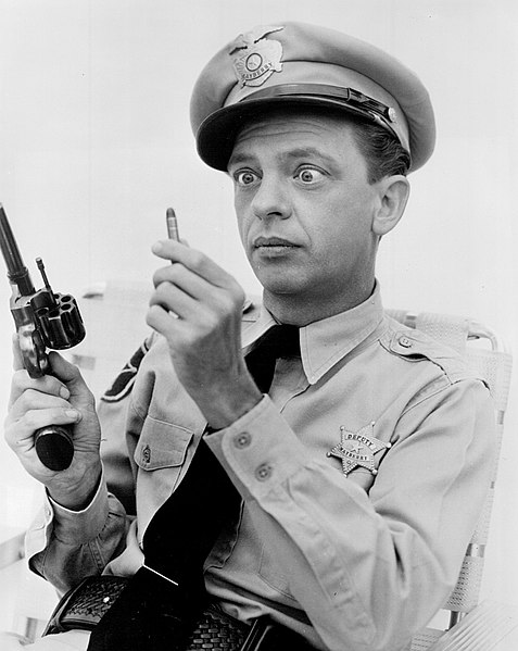 File:Don Knotts Barney and the bullet Andy Griffith Show.jpg