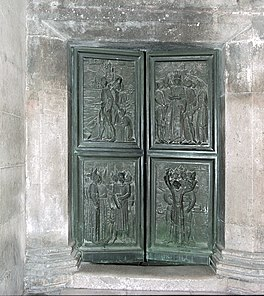 Door, Cathedral of St. Jacob, Sibenik8 (js).jpg