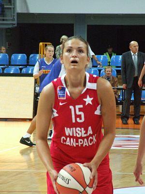 Wisła Can-Pack Kraków - Dorota Gburczyk from Wisła Can-Pack Kraków in 2009.