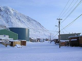 Hamlet in Nunavut, Canada