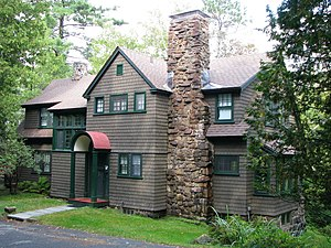 National Register of Historic Places listings in Franklin County, New York - Image: Dr A H Allen Cottage, Saranac Lake, NY