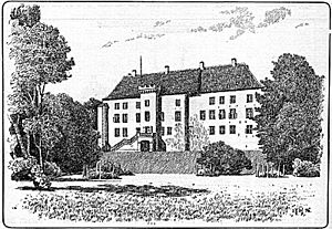 Dragsholm Castle - Dragsholm Castle in 1896