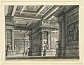 """Drawing, Stage Design, Room in the Palace of Titus for the Opera """"La Clemenza di Tito"""" by Mozart, 1818–19 (CH 18358983).jpg"""