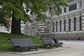 Dresden Germany Park-benches-in-front-of-Albertinum-01.jpg