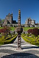 Drummond Castle - view of sundial with castle in background.jpg